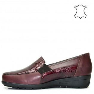 Бордо - ортопедични дамски обувки естествена кожа 02bg16b.