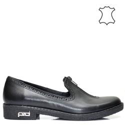 Ежедневни дамски черни обувки тип *оксфорд* 93a16