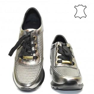 Графит-метал спортни дамски обувки 01A17