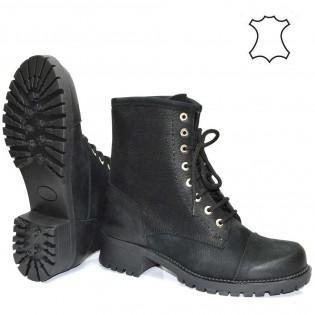 Черни дамски боти кубинки - 402a17