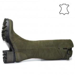 Дамски ботуши на ток - естествена кожа 6509a17z