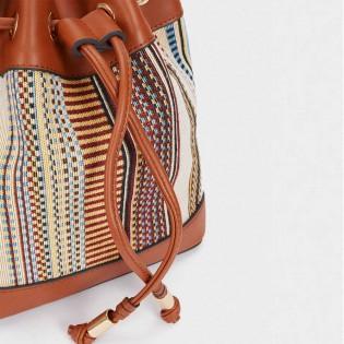 Дамска чанта тип лотус на PARFOIS - 174762