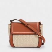 Дамска чанта с плетена тъкан на PARFOIS - 175067