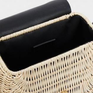 Дамска чанта с плетена рафия на PARFOIS - 175461