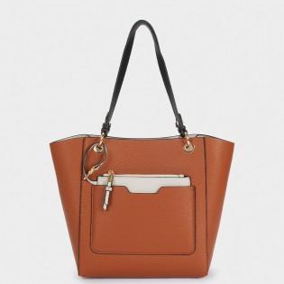 Двулицева дамска чанта - 3 в 1 на PARFOIS в два цвята - 175980