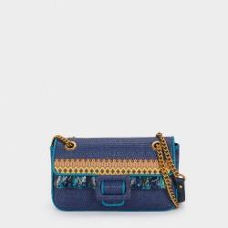 Дамска плетена чанта на PARFOIS с ресни - 176239