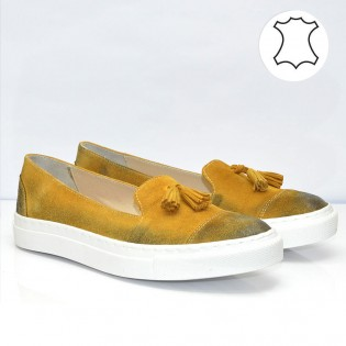 Дамски спортни обувки - жълти 134BT17