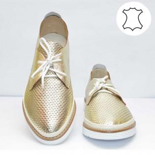 Дамски спортни обувки - златист цвят 2027TA17