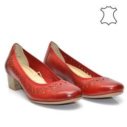 Червени - ежедневни, комфортни, немски дамски обувки Marco Tozzi 22309DM17r