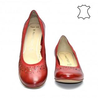 Червени - жедневни, комфортни, немски дамски обувки Marco Tozzi 22309DM17r