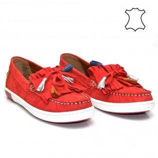 Червени, немски, дамски мокасини Marco Tozzi 24610DM17