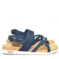 Равни, сини немски дамски сандали S.Oliver - 28116DS17