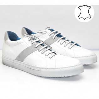Бели мъжки спортни обувки M1401BN