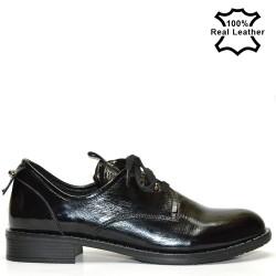 Дамски ежедневни-спорти обувки естествена кожа - лак 0114L