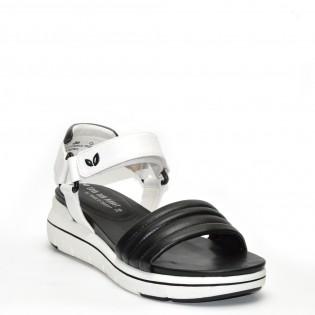 Ортопедични, спортни дамски сандали - бяло и черно 28556MT
