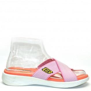 Skechers комфортни розови дамски чехли F0627p