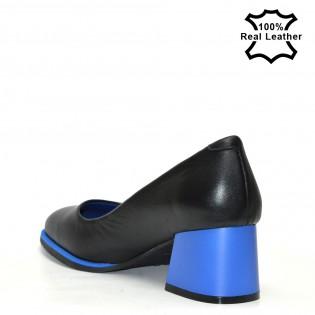 Ежедневни обувки на ток  естествена кожа F103