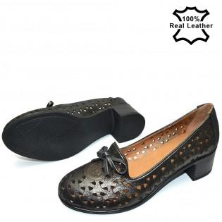 Ежедневни кожени обувки - естествена кожа - F49