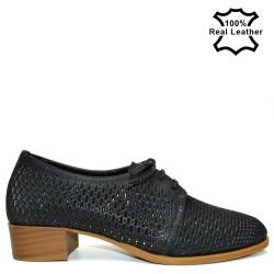 Перфорирани ежедневни дамски обувки F496
