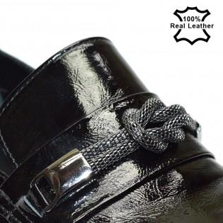 Дамски лачени спортно-елегантни обувки L1078