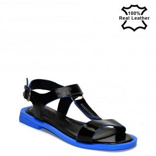 Ниски, равни, дамски сандали-лак L2203