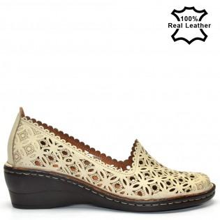Бежови,клин платформа дамски обувки L5010B