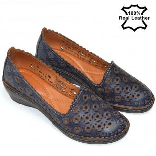 Сини,клин платформа дамски обувки L5010n