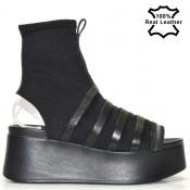 Летни боти, сандали в черен цвят L8907