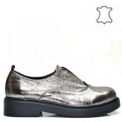 Модерни дамски обувки в метален цвят 115A16m