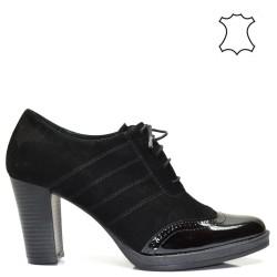 Висок ток, дамски обувки естествена кожа - 2034BD16