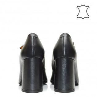 Висок ток, шикозни, дамски обувки с токи естествена кожа - 203i16