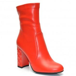 Червени елегантни дамски боти на висок ток - 256ke16r