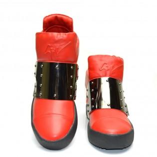 Червени дамски спортни боти - 2KE16r