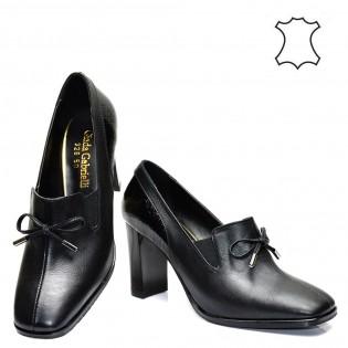Висок ток, шикозни, дамски обувки естествена кожа  326TK16