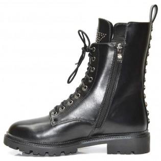 Екстравагантни-черни дамски боти -299ke17