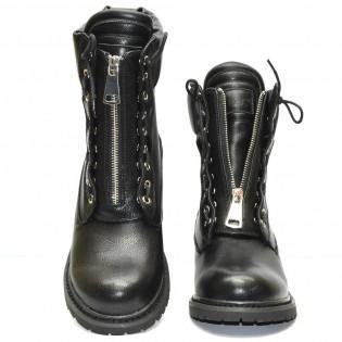 Екстравагантни-черни дамски боти - 3936ke17