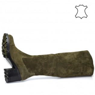 Дамски ботуши на ток - естествена кожа 4350a17z