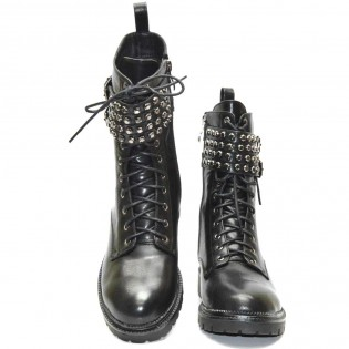 Черни дамски боти кубинки - 446ke17