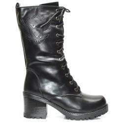 Черни дамски боти кубинки - 469ke17