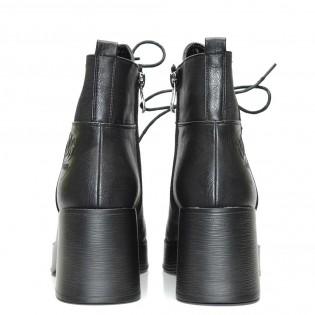Черни дамски боти кубинки - 592ke17
