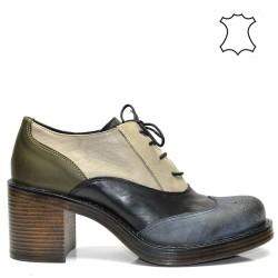 Атрактивни дамски обувки в комбинация - 791BJ16
