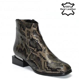 Дамски боти - змия,естествена кожа LP1019
